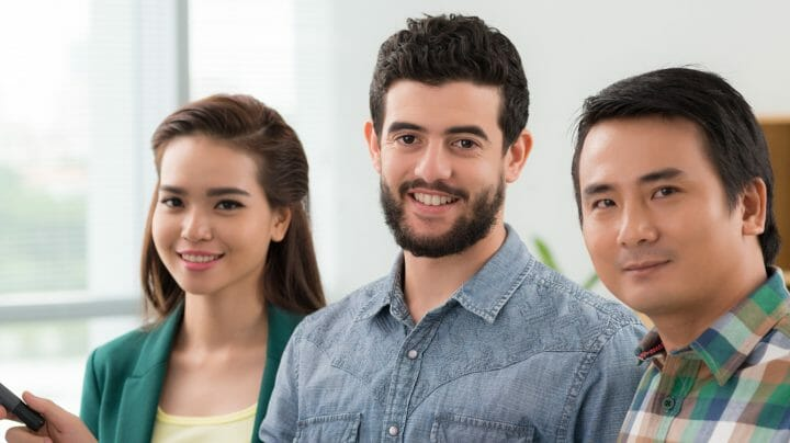 three young creative people